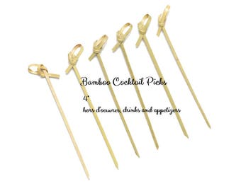 Shop Small Holiday Entertaining Bamboo Cocktail Picks Drinks Hors D'ouevres and appetizers 75 ct