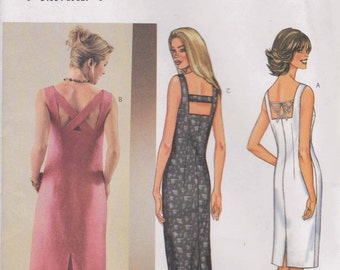 Fitted Dress Pattern Lined Dress Pattern  Summer Dress  Size 12, 14, 16  Butterick 3514