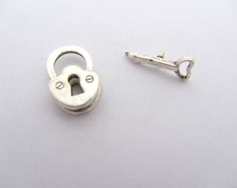 Clasp toggle key, little clasp toggle,silver toggle clasp