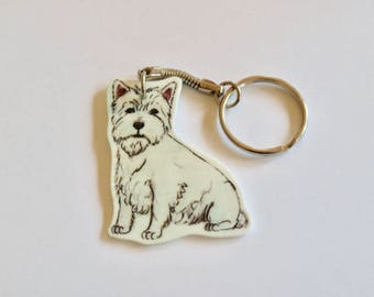 West Highland Terrier Keyring