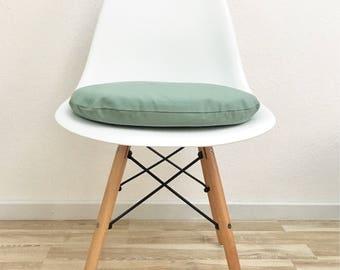 Seat cushion Green-cushion Eames-mint-green-eames chairs-modern-zipper-chair pillow-cotton-upholstered pillow