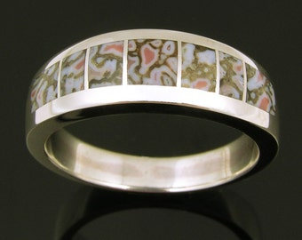 Woman's Dinosaur Bone Ring in Sterling Silver by Hileman Silver Jewelry