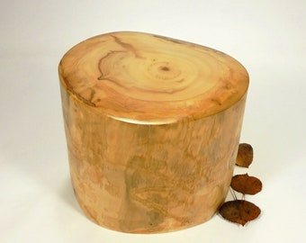 Aspen Tree Cremation Urn Small, Wood Cremation Urn for Ashes.  Memorial, Funeral & Burial Urns.  Wooden Urn Made in Colorado.  65 lbs.