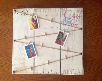 Girls Just Wanna Have Fun Rustic Picture Display Board