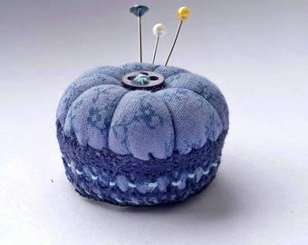 Miniature Pincushion, Blue Blossom