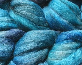Yak Silk Merino Spinning Fiber - 'Opal Creek'