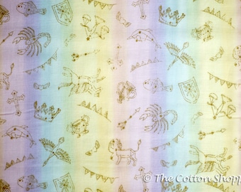 Kokka Candy Store Horoscopes Fabric ~ Double Gauze Fabric ~ Japanese Fabric ~ Kids Fabric ~ Quilting Fabric~Home Decor Fabric~Apparel Fabric