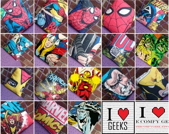 ANY 4 in stock MARVEL comic book 14x14 Pillow Cushion Cover Upcycled Tshirts Eco for the price of 3