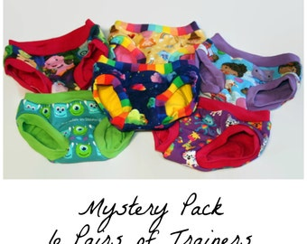 Mystery Pack of Childrens Cloth Training Pants - 6 Pairs Custom Made to Order