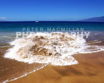 Powerful Riptide on Maui Beach - Hawaii