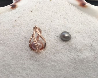 Rose Gold Spiral Necklace and Pearl Popper Package