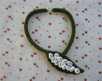 Strand necklace of the Valley in crochet Choker