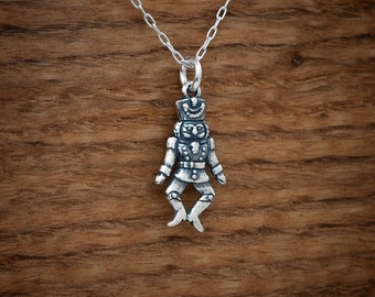 STERLING SILVER Christmas Nutcracker Ballet My ORIGINAL Charm, Necklace or Earrings - Chain Optional
