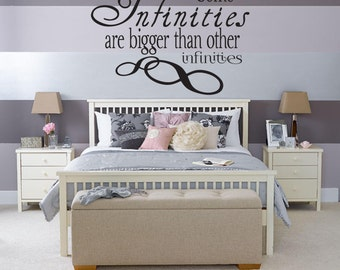 Some Infinities wall decal Love Infinity Living Room Bedroom wall decal decor