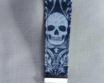Skull Damask~ key fob, key chain, wristlet, camera strap, flash drive holder