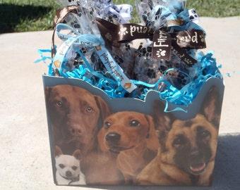 Gourmet Dog Treats - Best In Show Gift Basket - Dog Treats Organic All Natural Gourmet Vegetarian - Shorty's Gourmet Treats