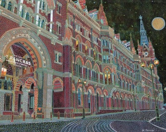 St Pancras. A Ltd edition, numbered and signed print from a Painting by Richard Friend