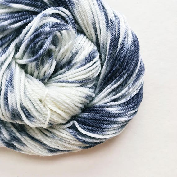 CHARCOAL CREAM hand dyed yarn speckle