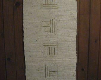 Handmade paper hanging with original design