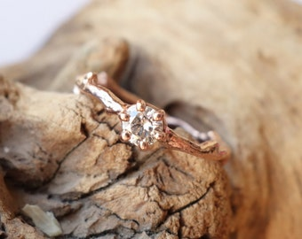Moissanite Branch Solitaire