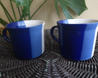 Set of 2 - Jepcor Korea blue stoneware mugs