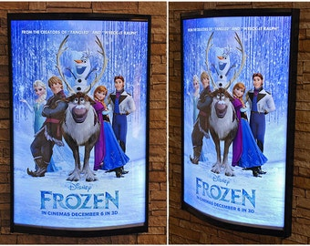 LED Curved Movie Poster LightBox