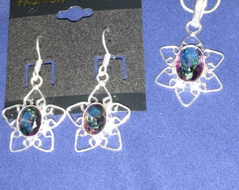CLEARANCE *Mystic Topaz Necklace and Earring Set