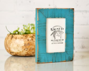 "4x6"" Picture Frame in 1.5 inch Escalante Style with Super Vintage Finish Color of Your Choice - 4 x 6 Photo Frame"