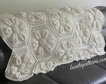 Embossed Crochet Daisy Blanket