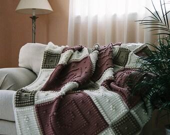 BE MINE pattern for crocheted blanket