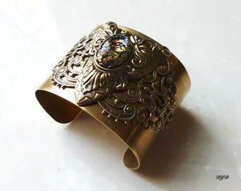Bracelet Cuff - Exotic Oval
