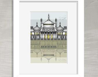 Brighton Architectural Print - Brighton Royal Pavilion