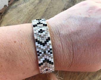 Handmade Adjustable Woven Seed Bead Bracelet