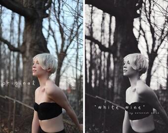 White Wine - Photoshop CS3+ Action | Black & White, Soft, Portrait Retouching