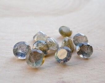 Labradorite 7 mm round faceted lot (20 pcs)