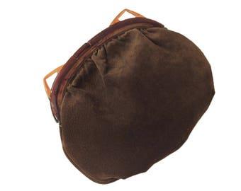 Brown Leather Vintage Purse