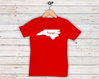 Red For Ed Principal Shirts Teacher Advocacy Day NC Sizes to up 5XL  Plus Sizes