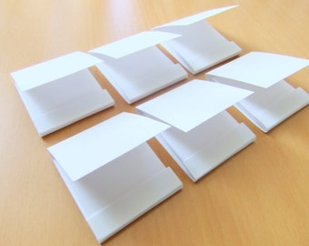 Mini matchbook notepad -Custom matchbook- Personalized matchbook- Wedding matchbook- Baby shower favor- Party favor- Set of 10 White notepad