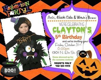 Halloween Birthday Boy Invitation