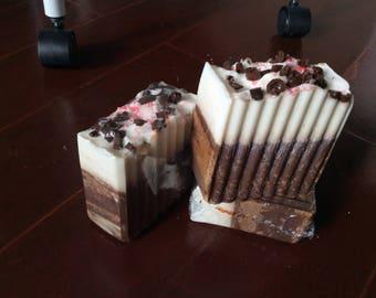 Peppermint Hot Cocoa Artisan Soap Handmade Artisan Soap