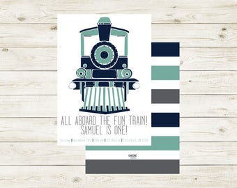 FUN CHUGGA CHUGGA | Train Invitation | Train Invite | 1st Bday Train Invite | 2nd Bday Train Invite | Fun Train | Choo Choo | Chugga Chugga