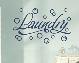 Wall Decal - Laundry Room with Bubbles