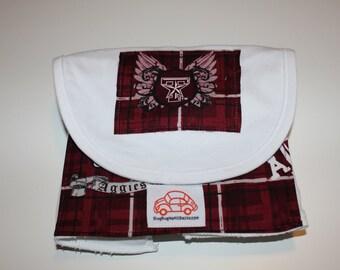 Texas A&M Bib and Burp Cloth Set