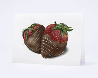 Chocolate Covered Strawberries Card by Truly Yours Greetings *free shipping – Always.