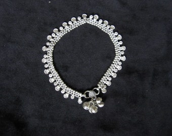 Anklet silver small charms (14)