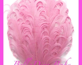 Curly feathers Nagorie Pad -Elegant goose feathers lots of color -Christening baby-flower girls-bride vintage feather headband photo prop