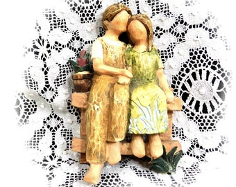 lovers figurine - young love figurine - Romeo Juliet figurine -collectible Figurines , Wedding Cake Topper , Spring love figurine , # 51