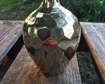 Brass Honey Comb Vase