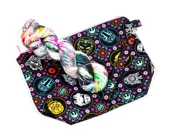 """PRE0RDER--""""Cantina""""--Project bag and matching yarn kit"""