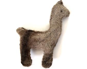 Brown Lllama - Recycled Llama Wool Sweater Plush Toy